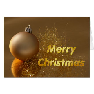Modern Merry Christmas Gold  Ornament Card