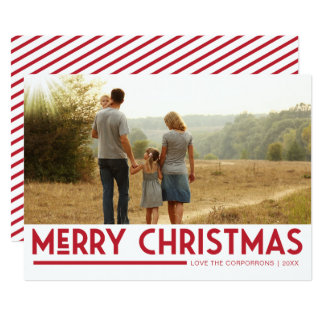 Modern Merry Christmas Photo Card