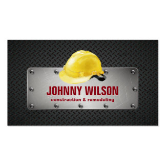 Modern Metal Plate Safety Helmet Construction Pack Of Standard Business Cards