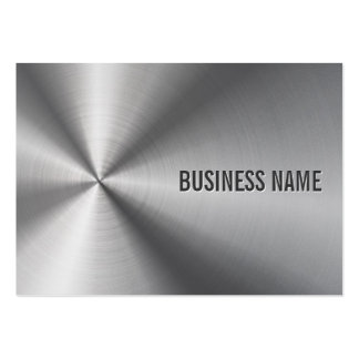 Modern Metal Professional Bold & Elegant Pack Of Chubby Business Cards