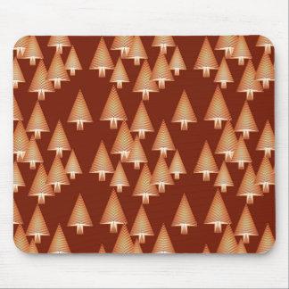 Modern metallic Christmas trees - copper Mousepad