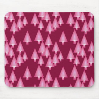Modern metallic Christmas trees - pink & wine Mousepad