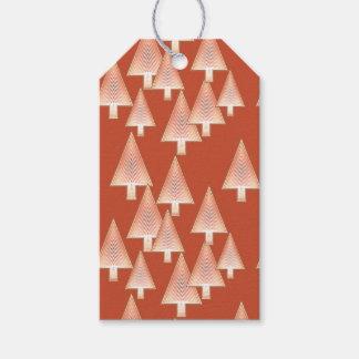 Modern metallic Christmas trees - rust & copper