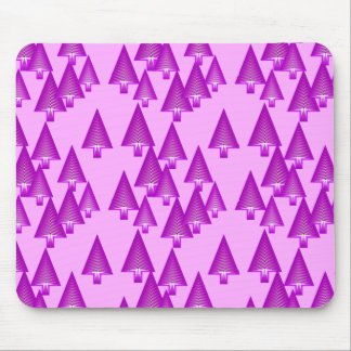 Modern metallic Christmas trees - violet Mouse Pads