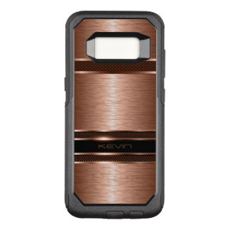 Modern Metallic Copper Geometric Background OtterBox Commuter Samsung Galaxy S8 Case