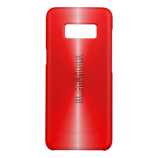 Modern Metallic Red Stainless Steel Look Case-Mate Samsung Galaxy S8 Case