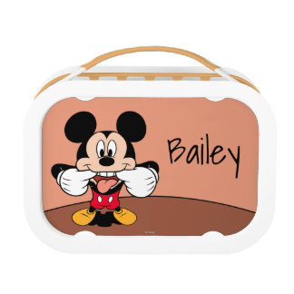 Modern Mickey | Sticking Out Tongue - Personalized Lunch Box