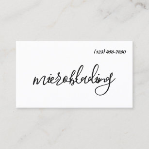Permanent makeup business cards business card printing zazzle modern microblading eyebrows permanent makeup business card reheart Image collections