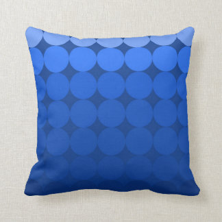 Modern Mid-Century mod pop gradient pillow blue
