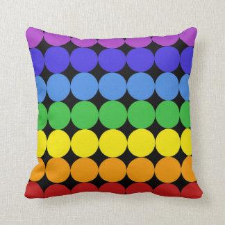 Modern Mid-Century mod pop  pillow rainbow