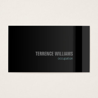 Modern minimal business card template Grey Black