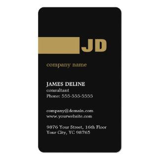 Modern Minimal Dark Grey Gold Monogram Consultant Pack Of Standard Business Cards