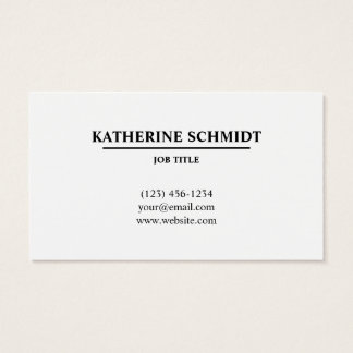 Modern, Minimal Initial Business Card