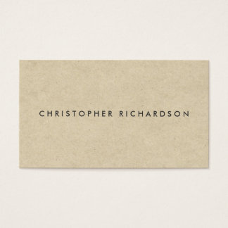 MODERN & MINIMAL on TAN CARDBOARD Business Card
