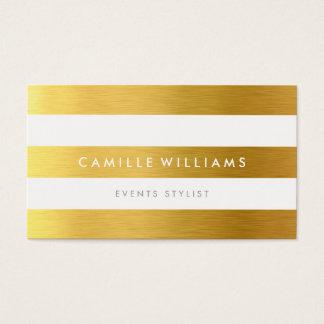 MODERN MINIMAL wide stripe pattern gold foil look