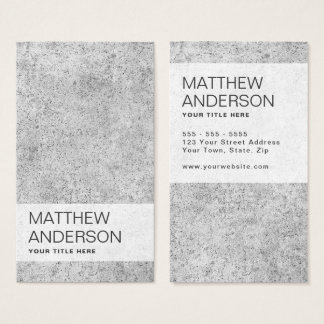 Modern, minimal with concrete cement business card