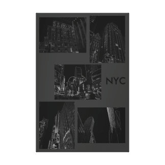 Modern Minimalism Art Decor Urban NYC B/W Canvas Print