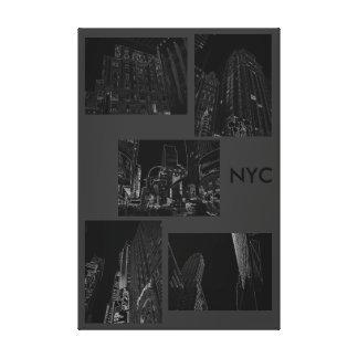 Modern Minimalism Art Decor Urban NYC B/W Gallery Wrap Canvas