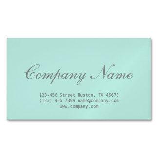 modern Minimalist beauty hair salon mint green Magnetic Business Card