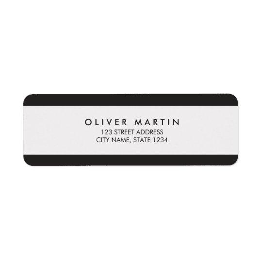 Modern Minimalist Black and Grey Address Labels