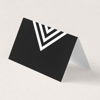 Modern Minimalist Black and White Geometric Place Card