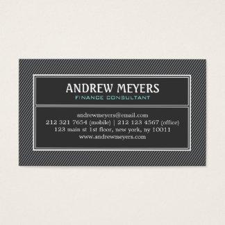 Modern Minimalist Black Consultant Business Card