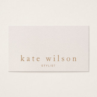 Modern Minimalist Blush Pink Leather Professional Business Card