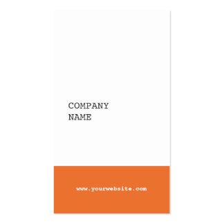 Modern Minimalist Consultant Business Card -Orange
