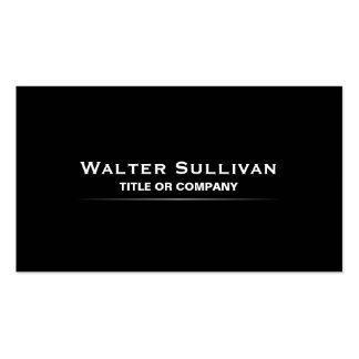 Modern minimalist elegant black professional pack of standard business cards