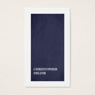 Modern Minimalist Elegant Blue White Consultant Business Card