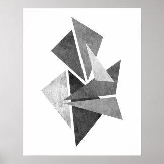 Modern minimalist geometric abstract art print