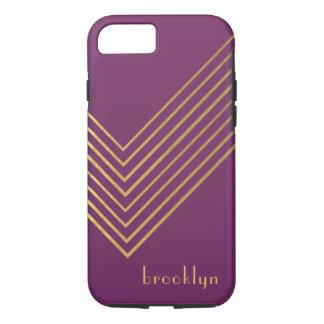 Modern Minimalist Gold Geometric Design iPhone 8/7 Case