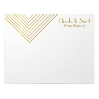 Modern Minimalist Gold Geometric Design Notepad