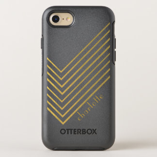 Modern Minimalist Gold Geometric Design OtterBox Symmetry iPhone 8/7 Case