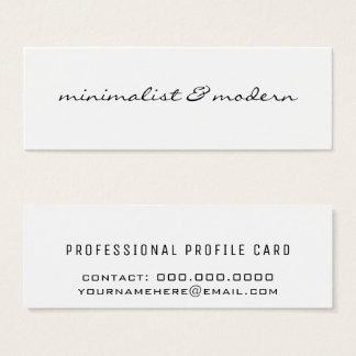 modern & minimalist mini business card