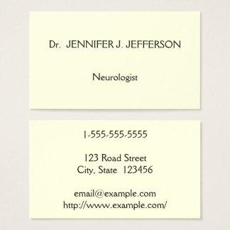 Modern & Minimalist Neurologist Business Card