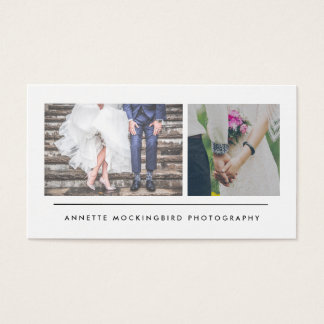Modern Minimalist Photography Two Photos Business Card