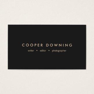 Modern Minimalist Professional Black Business Card