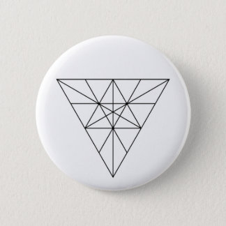 Modern Minimalist Sacred Geometry Abstract 6 Cm Round Badge