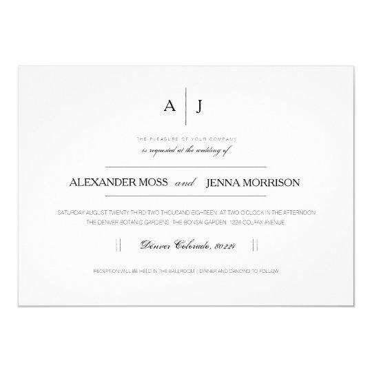 Modern & Minimalist Wedding Invite