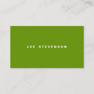 Think green business cards zazzle au modern minimalistic lime green business card reheart Gallery