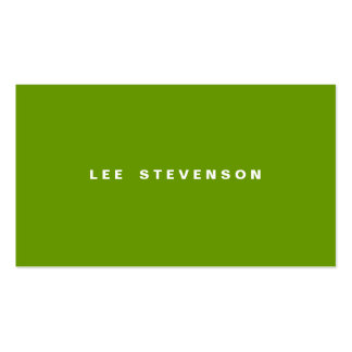 Modern Minimalistic Lime Green Pack Of Standard Business Cards