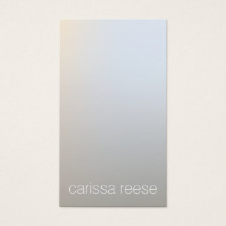 Modern Minimalistic Luminous Silver Professional Business Card