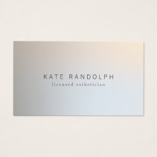 Modern Minimalistic Professional Luminous Silver Business Card