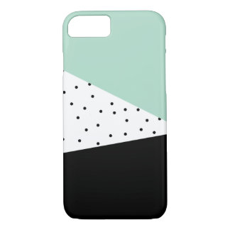 Modern Mint and Black iPhone Case
