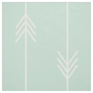 Modern Mint and White Arrow Fabric