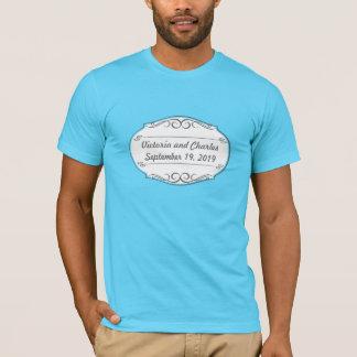 Modern Mint  Damask Wedding Invite T-Shirt