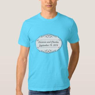 Modern Mint  Damask Wedding Invite T Shirts