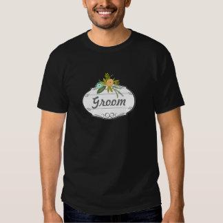 Modern Mint  Damask Wedding Invite Tshirt