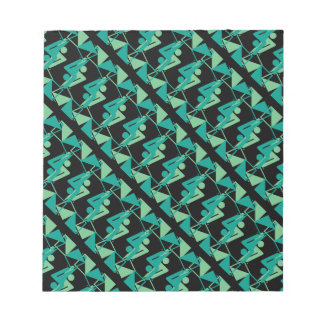 Modern Mirrored Geometric & Abstract Pattern Notepad